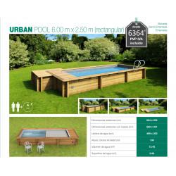 Urban Pool 600 cm x 250 cm